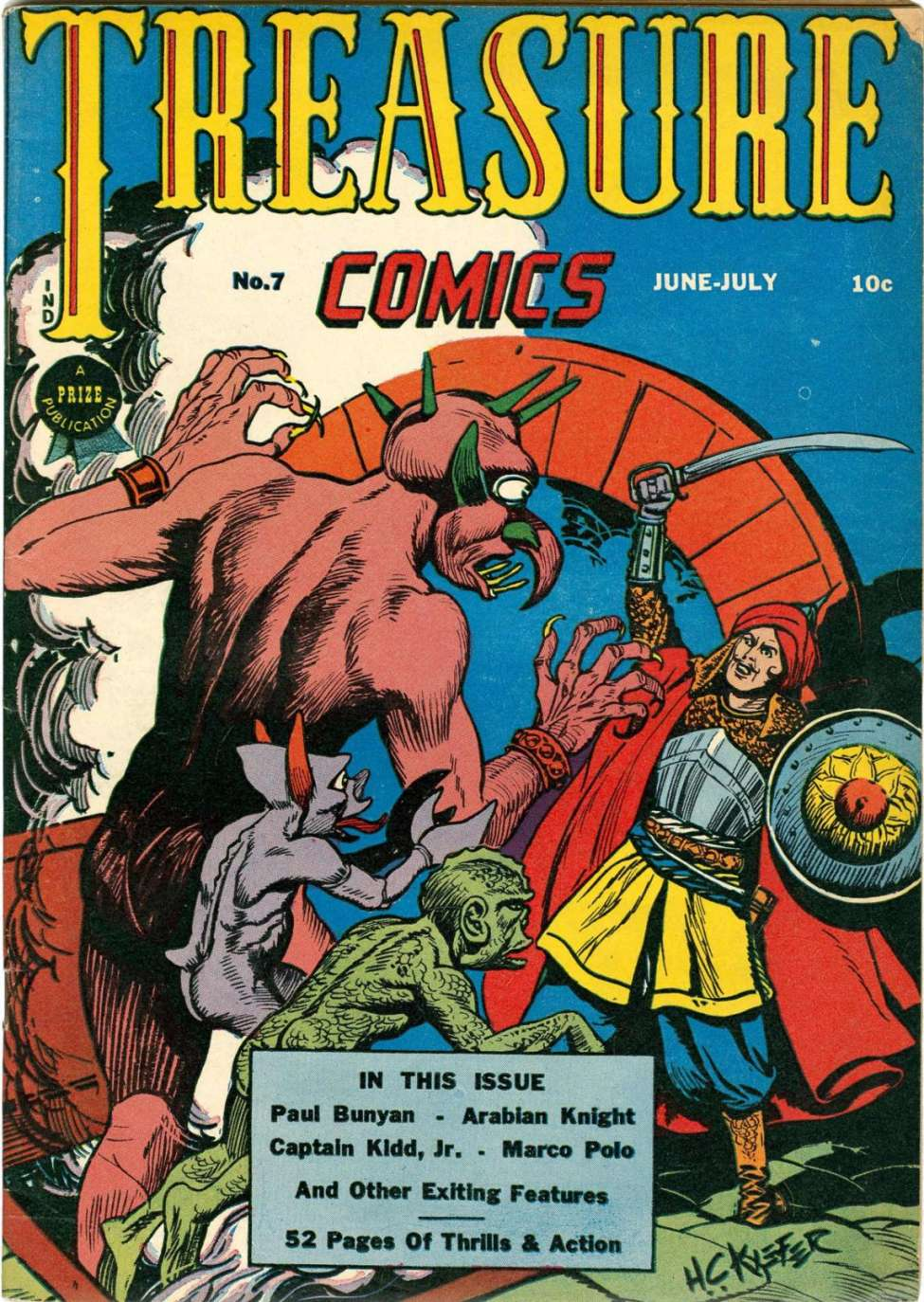 Comic Book Cover For Treasure Comics #7