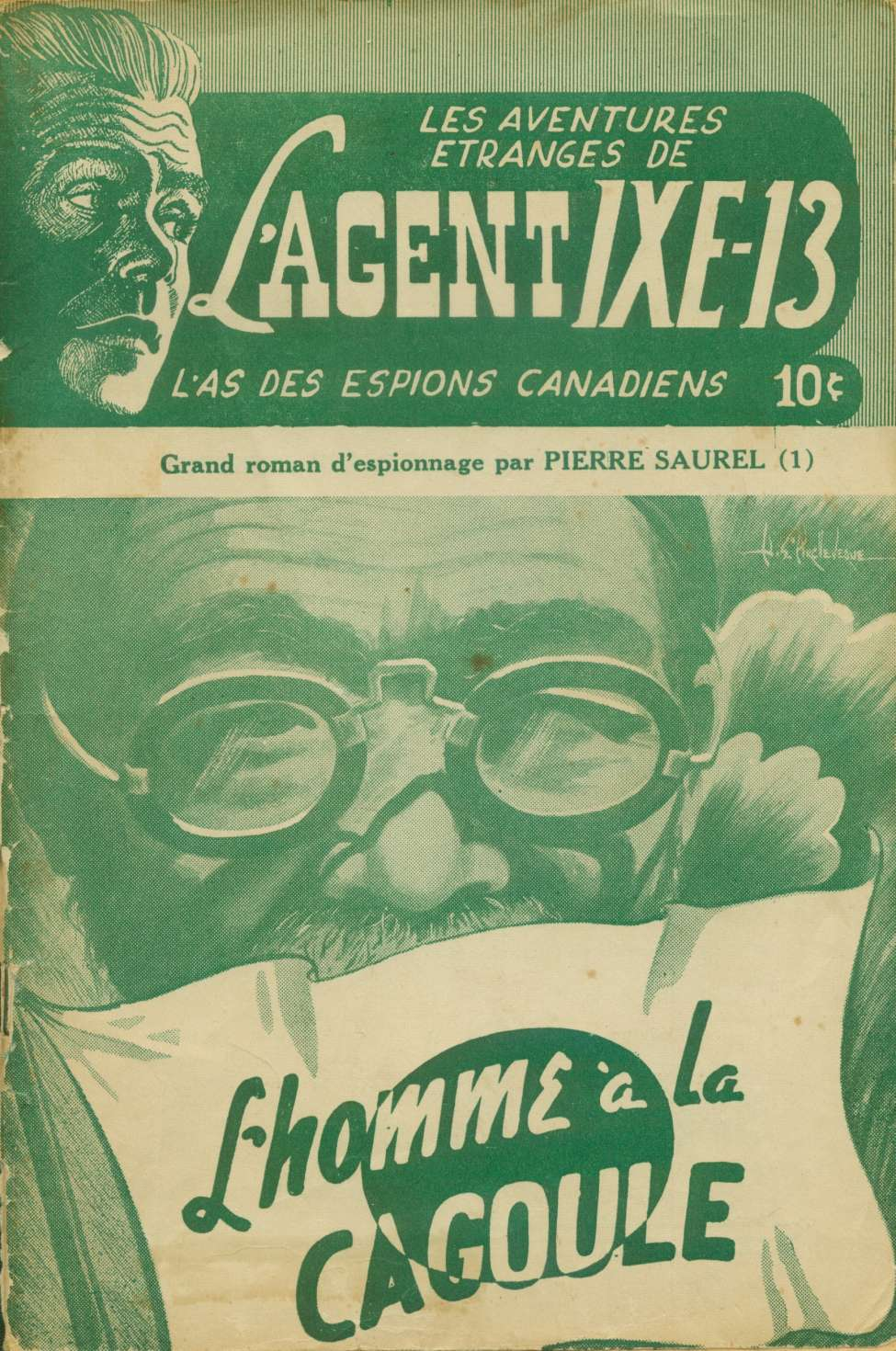 Comic Book Cover For L'Agent IXE-13 v2 001 - L'homme à la cagoule
