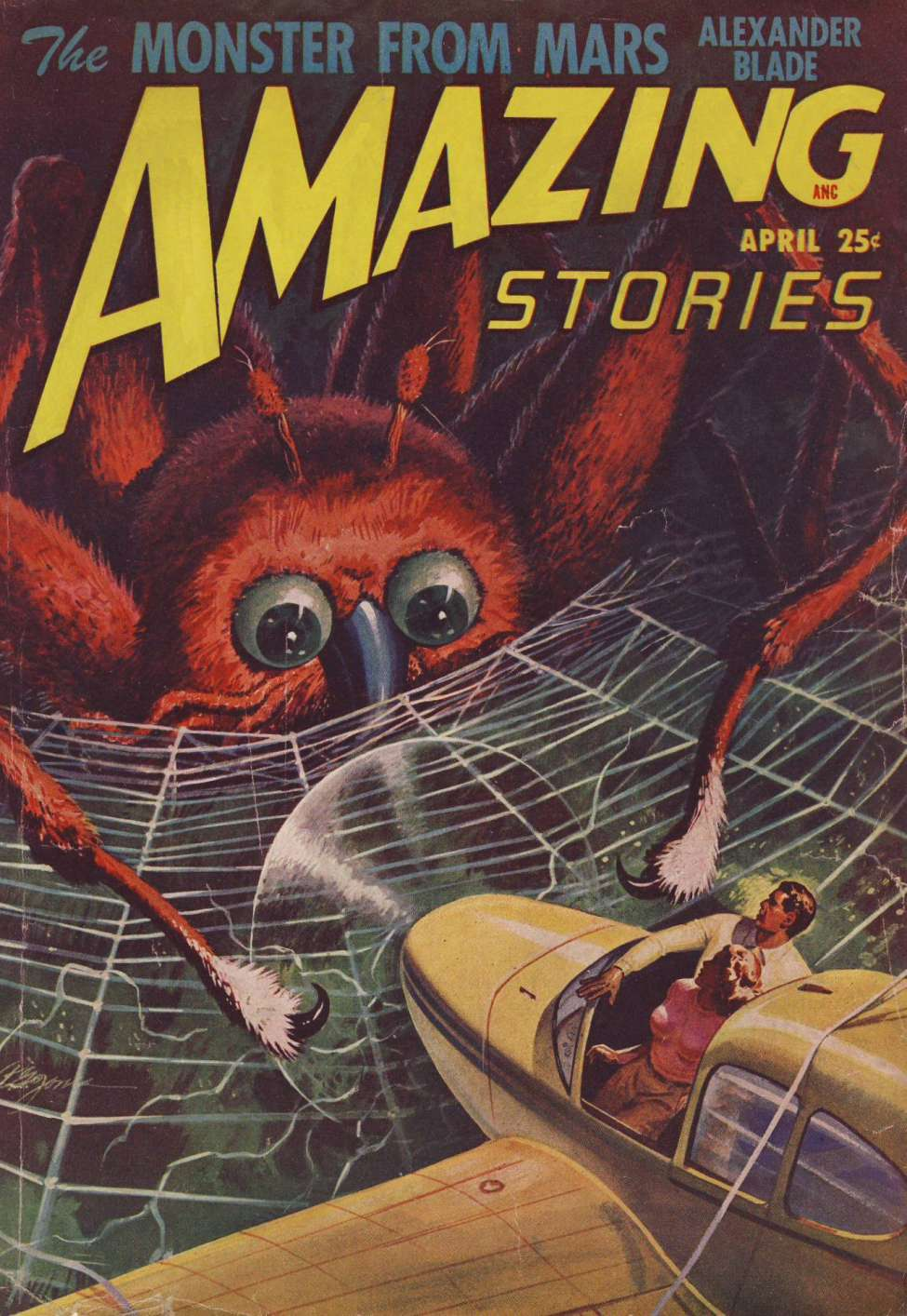 Comic Book Cover For Amazing Stories v22 04 - The Monster from Mars - Alexander Blade