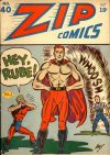 Cover For Zip Comics 40