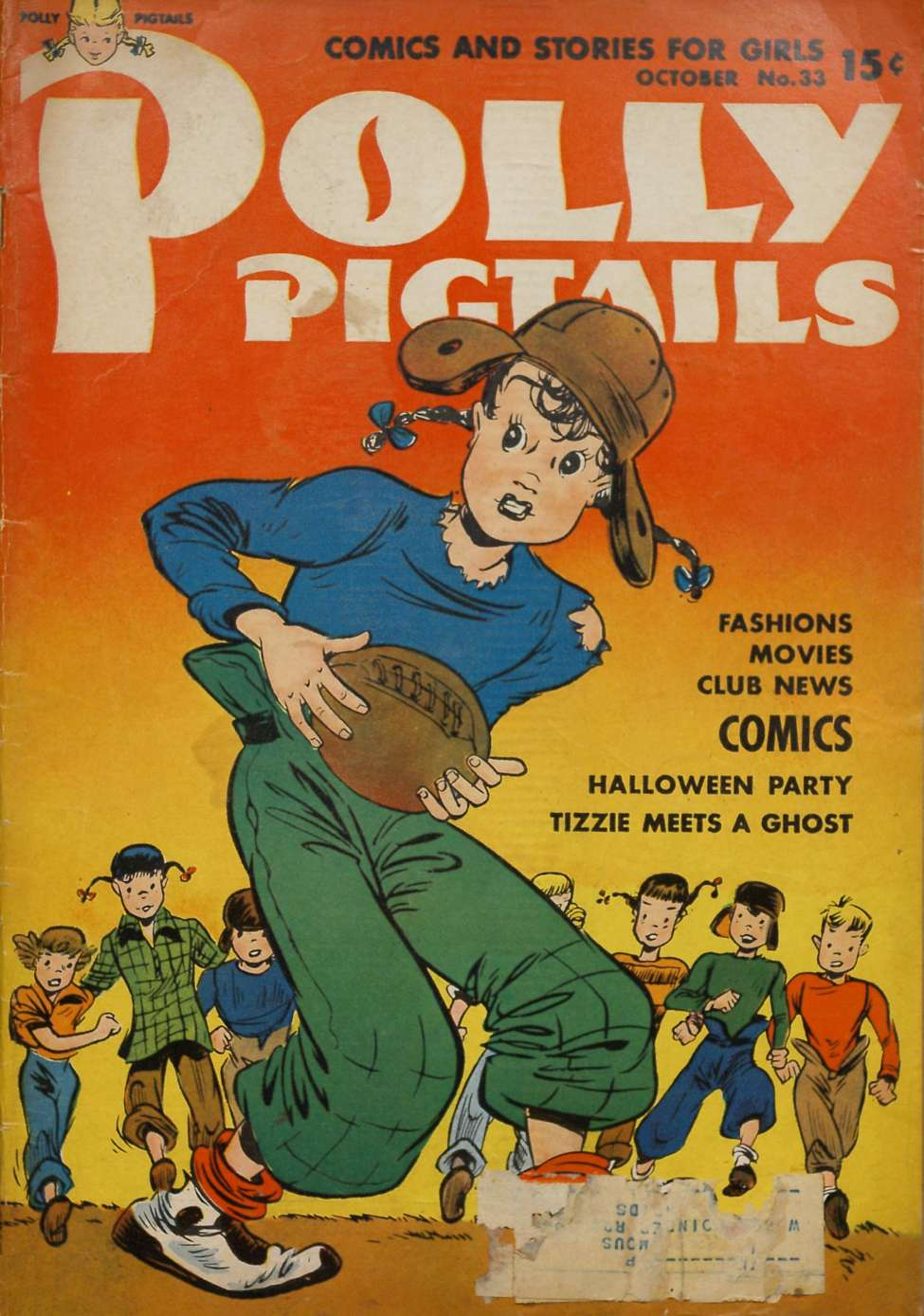 Comic Book Cover For Polly Pigtails #33
