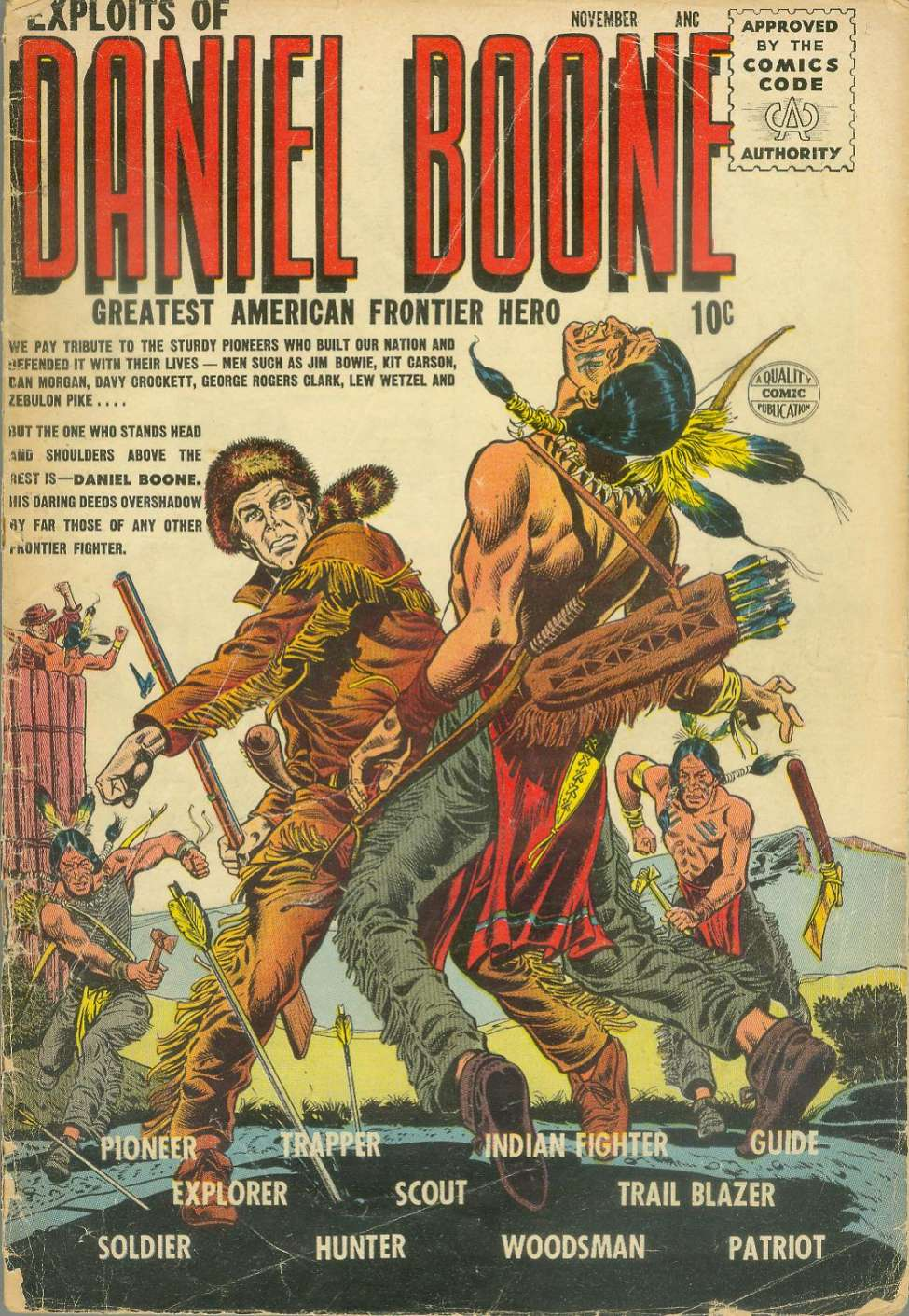Comic Book Cover For Exploits of Daniel Boone #1