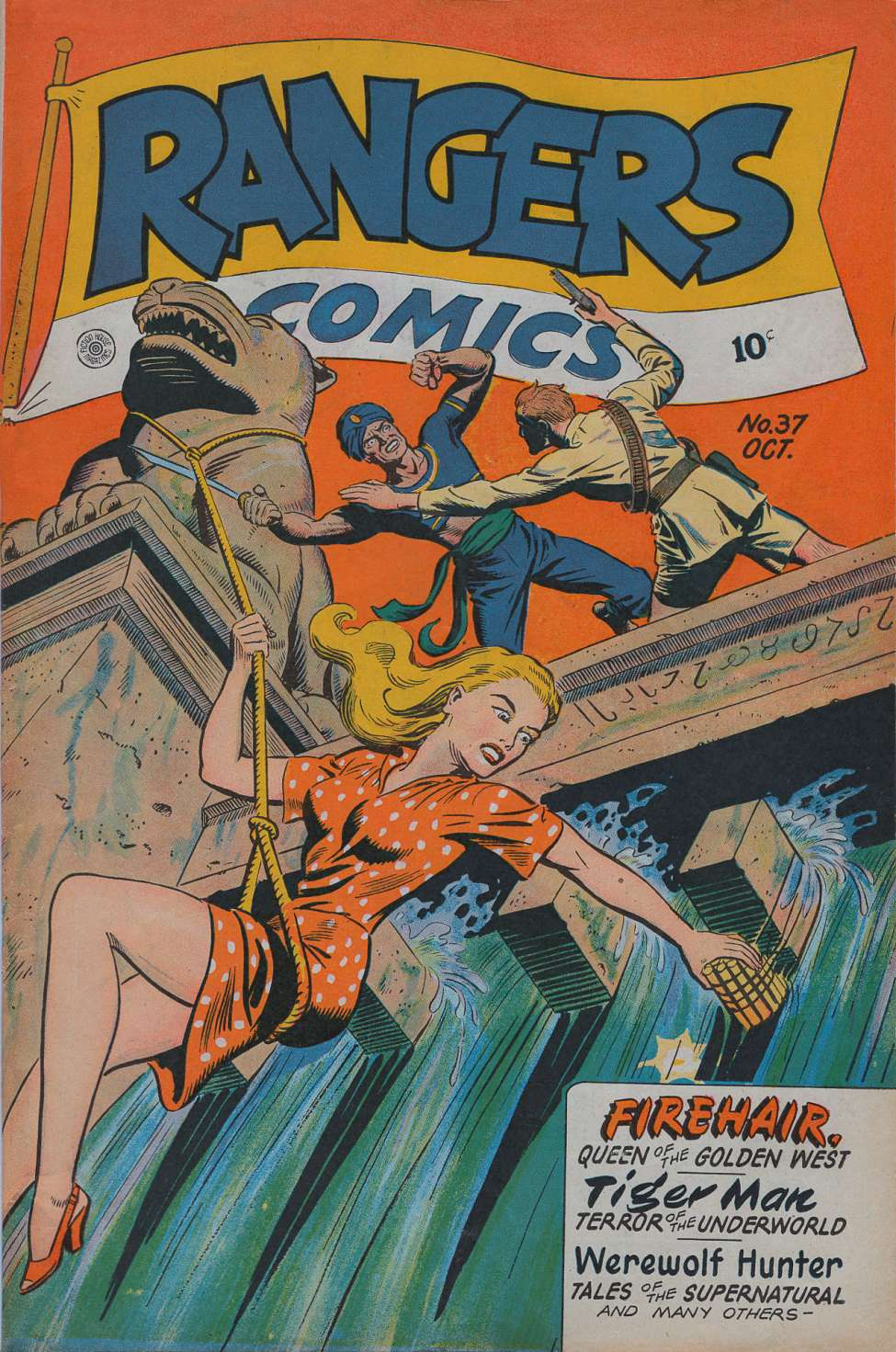 Comic Book Cover For Rangers Comics #37