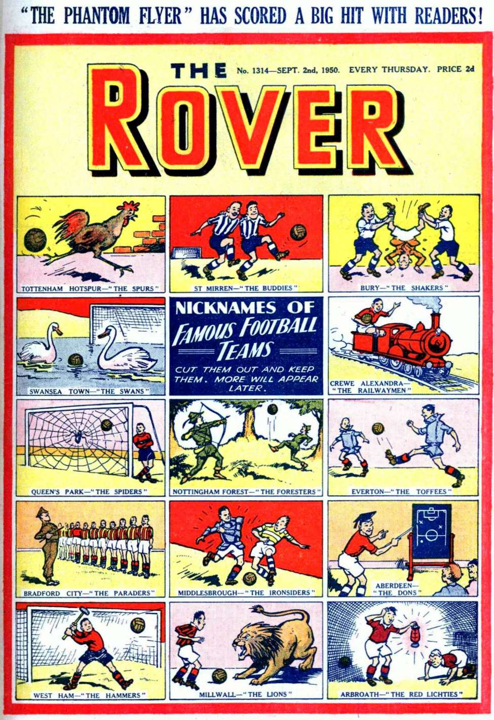 Comic Book Cover For The Rover 1314