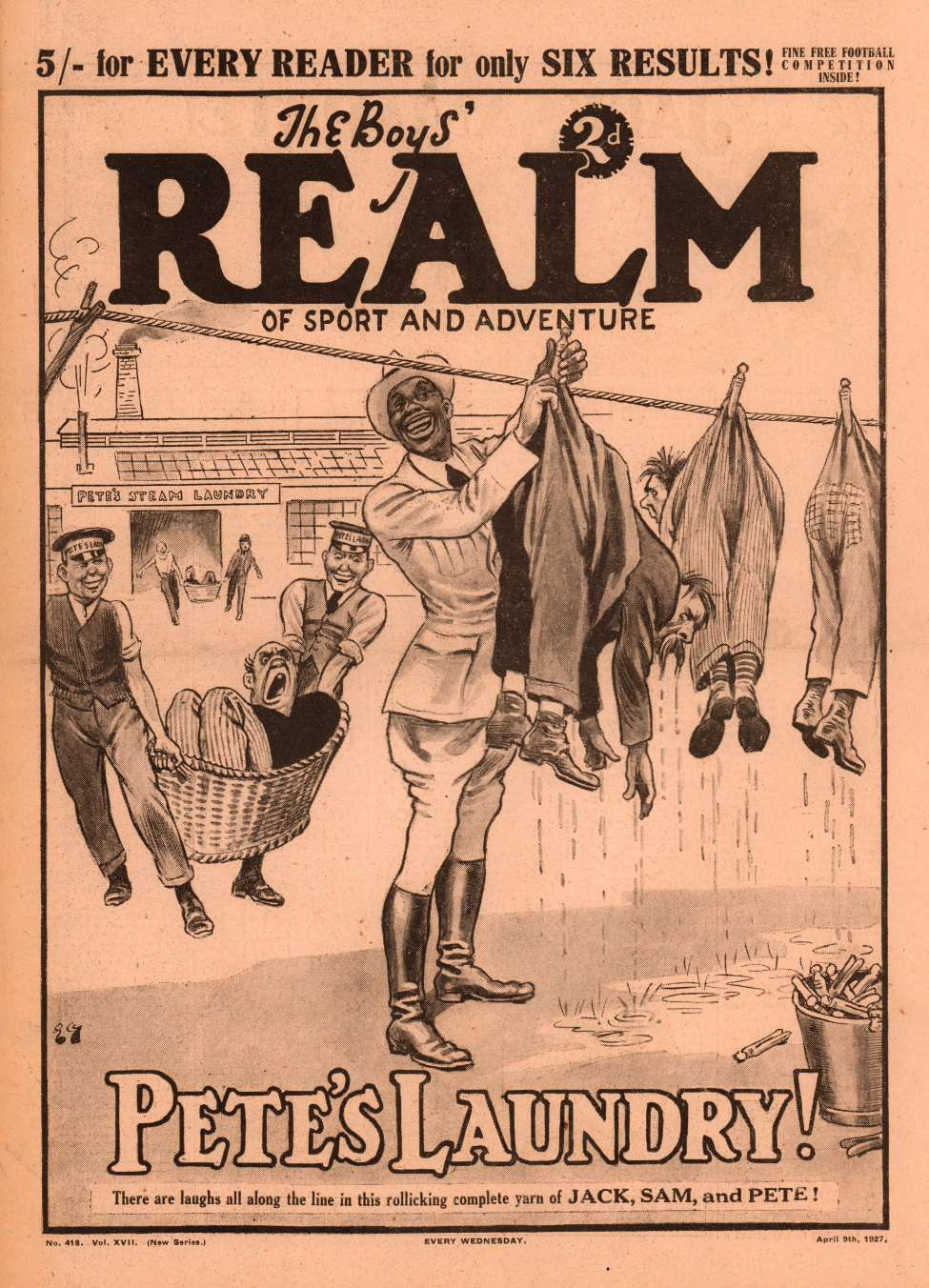 Comic Book Cover For The Boys' Realm v2 418 - Pete's Laundry!