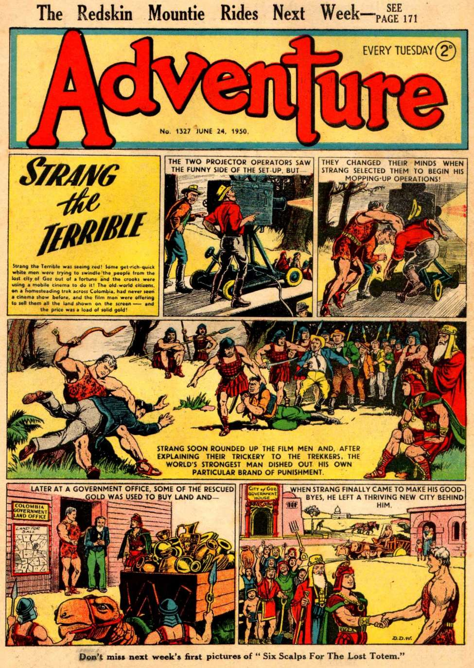 Comic Book Cover For Adventure #1327