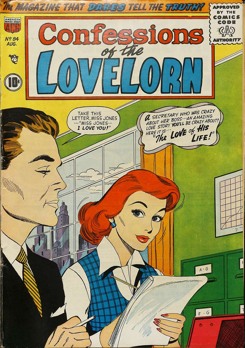 Comic Book Cover For Confessions of the Lovelorn #84