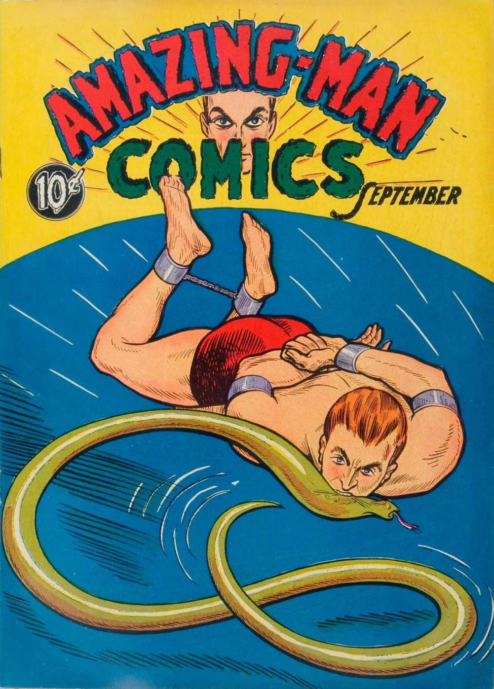 Comic Book Cover For Amazing Man Comics #5