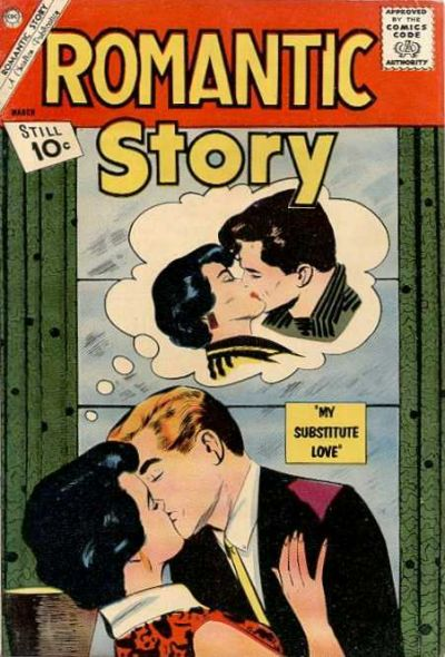 Comic Book Cover For Romantic Story #59