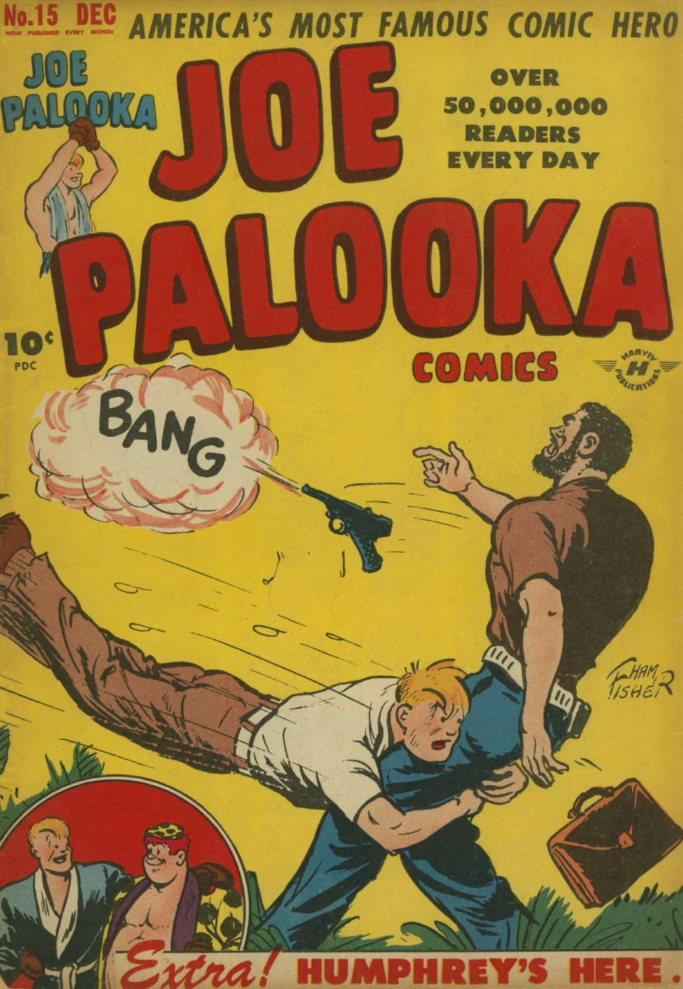 Comic Book Cover For Joe Palooka Comics #15