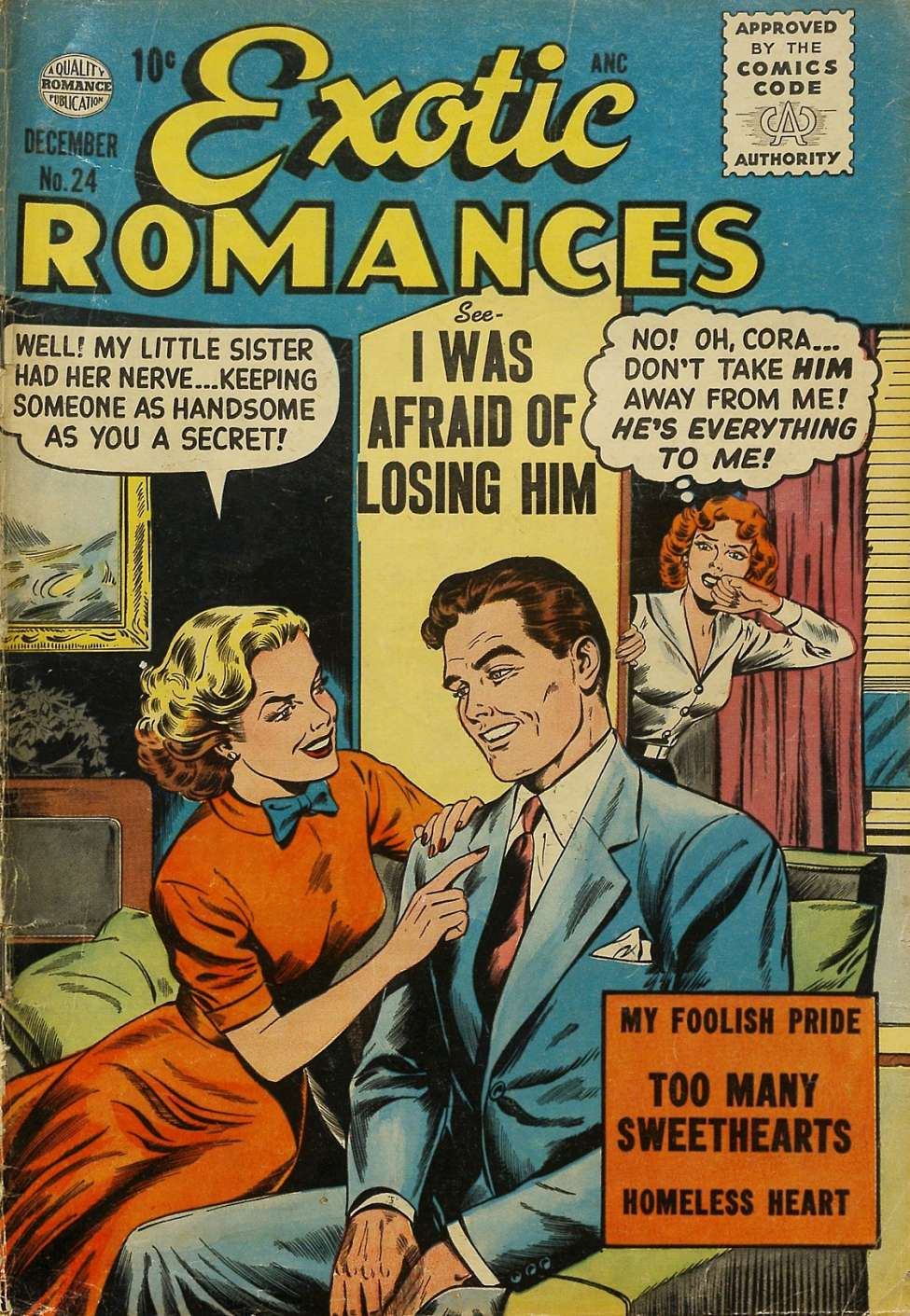 Comic Book Cover For Exotic Romances #24