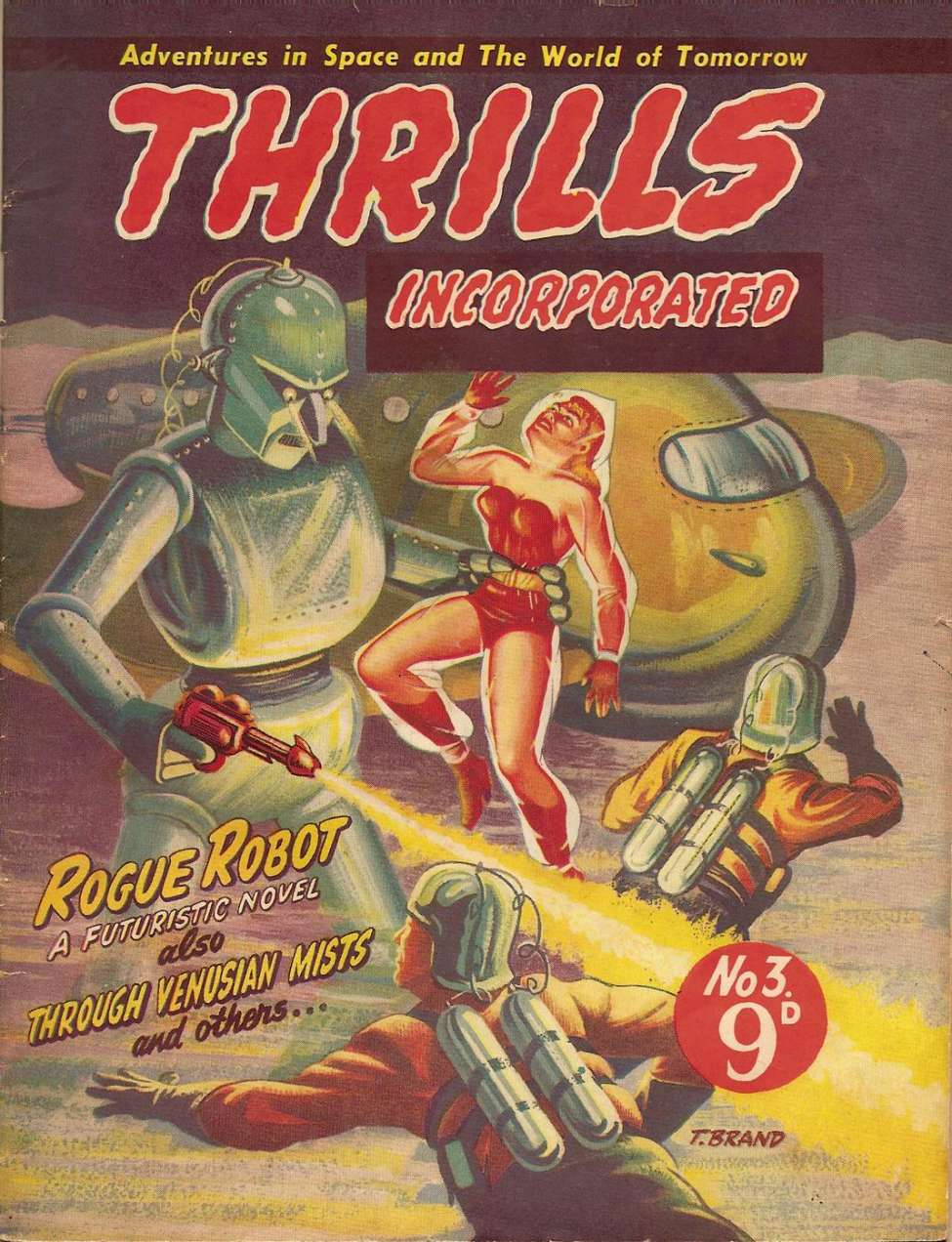 Comic Book Cover For Thrills Incorporated 03 - Rogue Robot - Belli Luigi