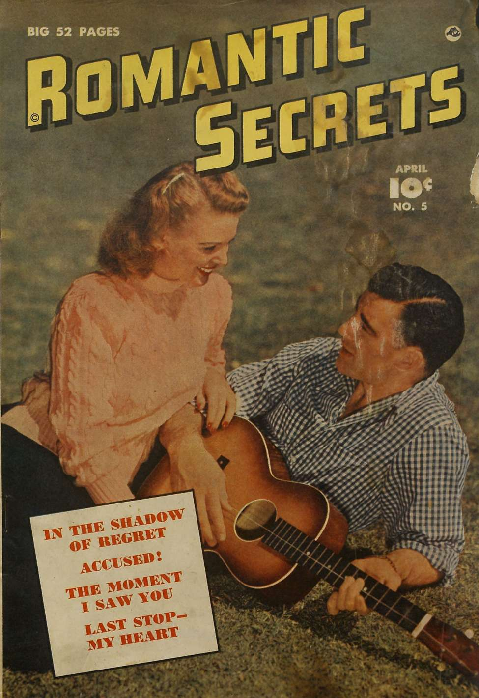 Comic Book Cover For Romantic Secrets #5