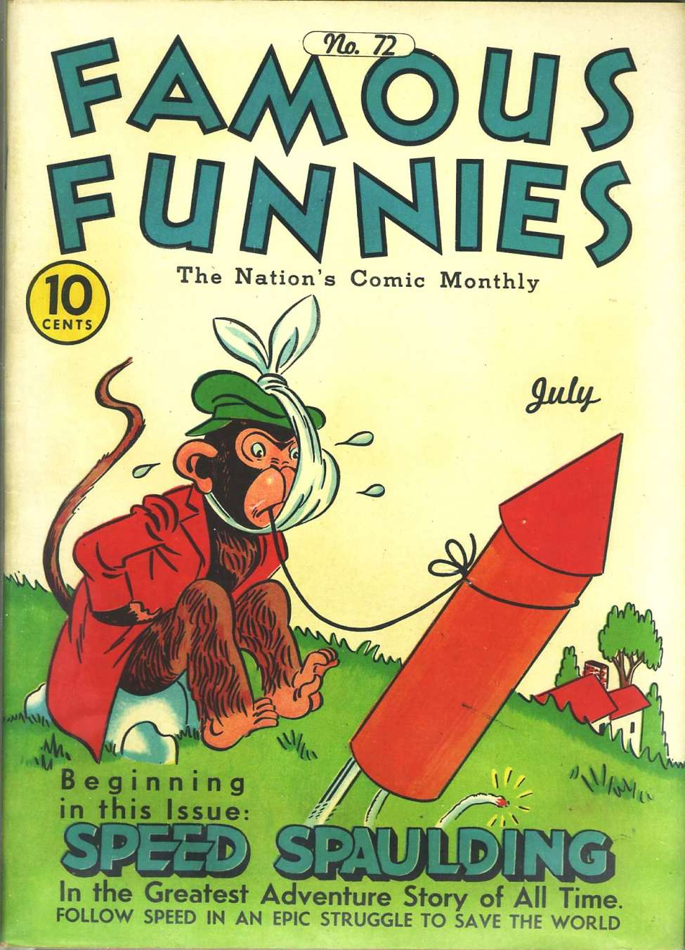 Comic Book Cover For Famous Funnies #72