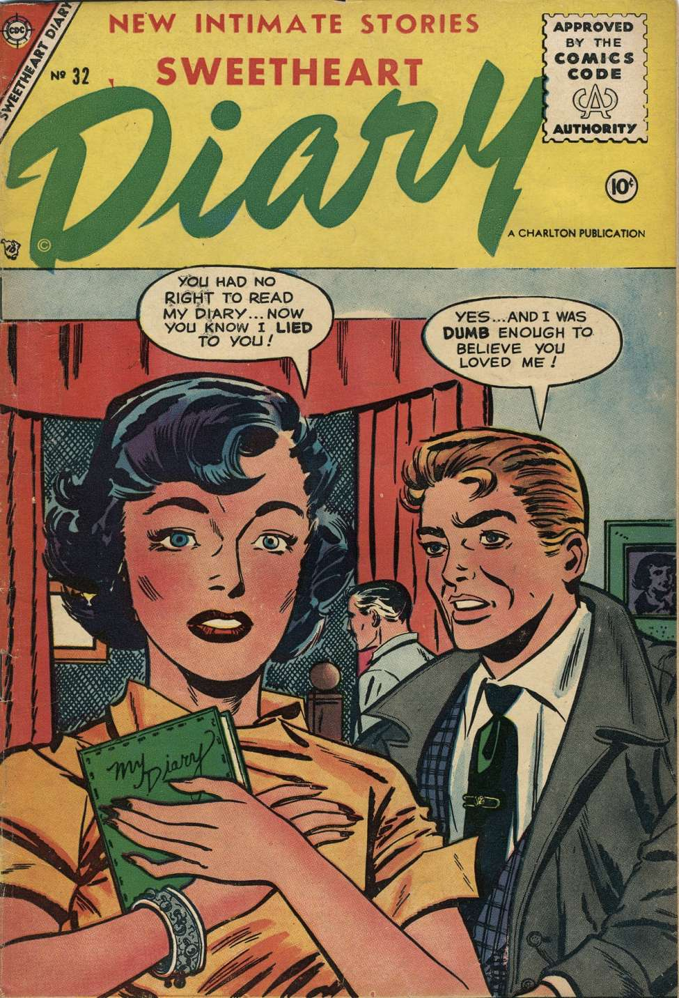 Comic Book Cover For Sweetheart Diary #32