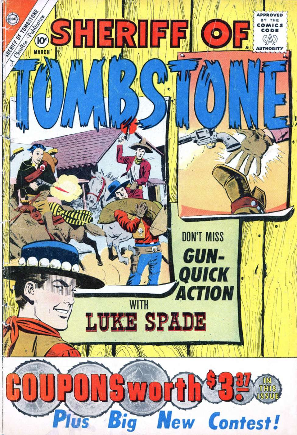 Comic Book Cover For Sheriff of Tombstone #14
