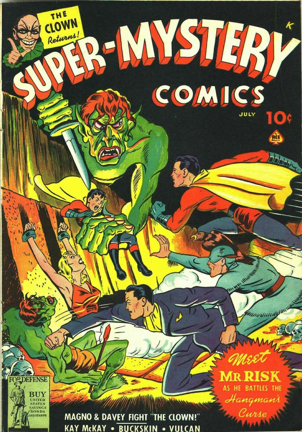 Comic Book Cover For Super-Mystery Comics v3 #2 - Version 2