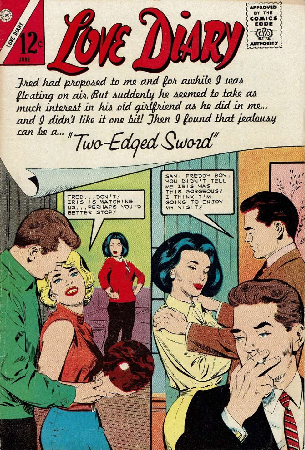 Comic Book Cover For Love Diary #33