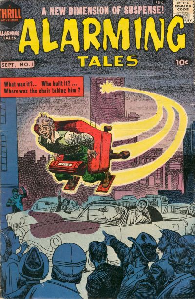 Comic Book Cover For Alarming Tales #1