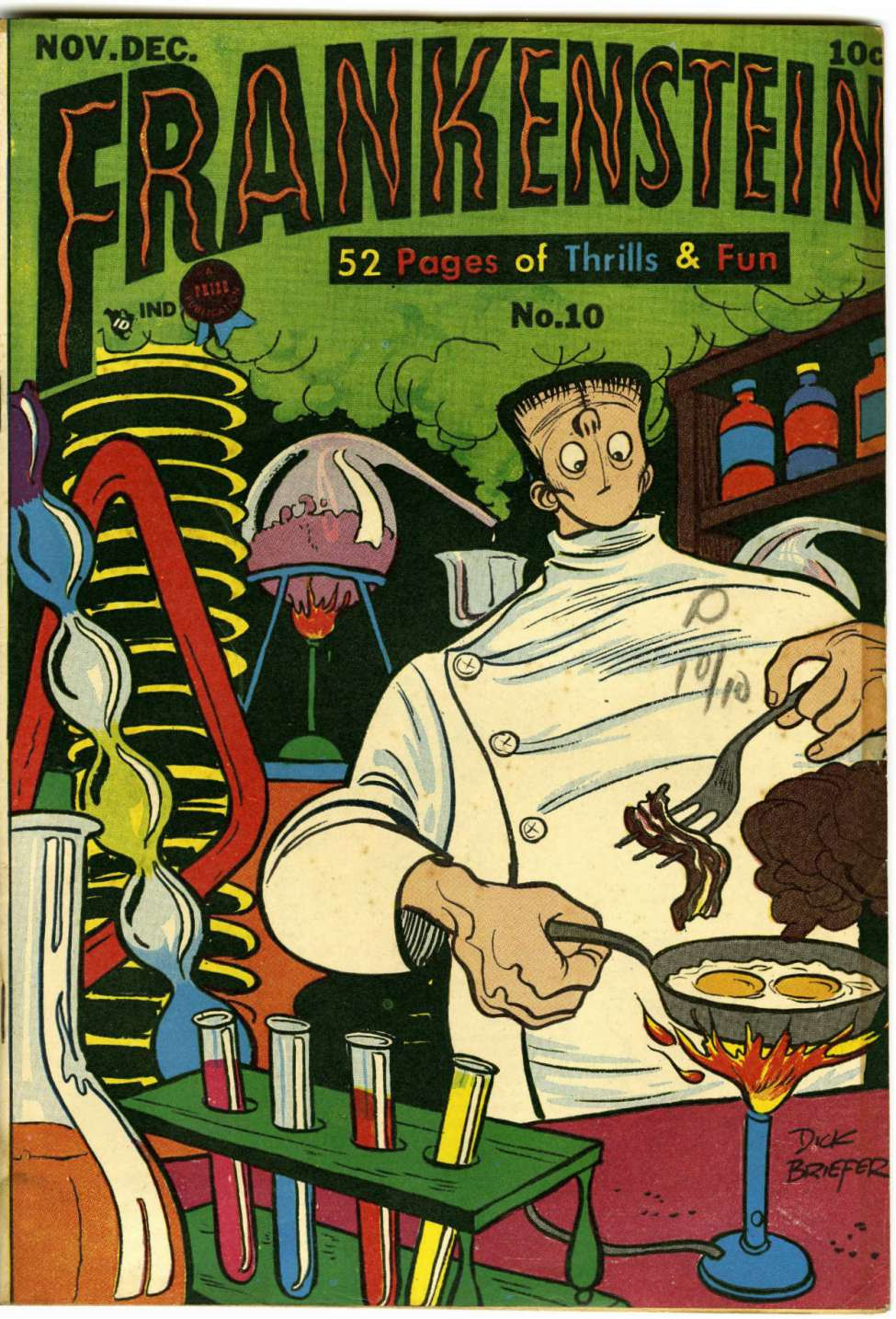 Comic Book Cover For Frankenstein #10
