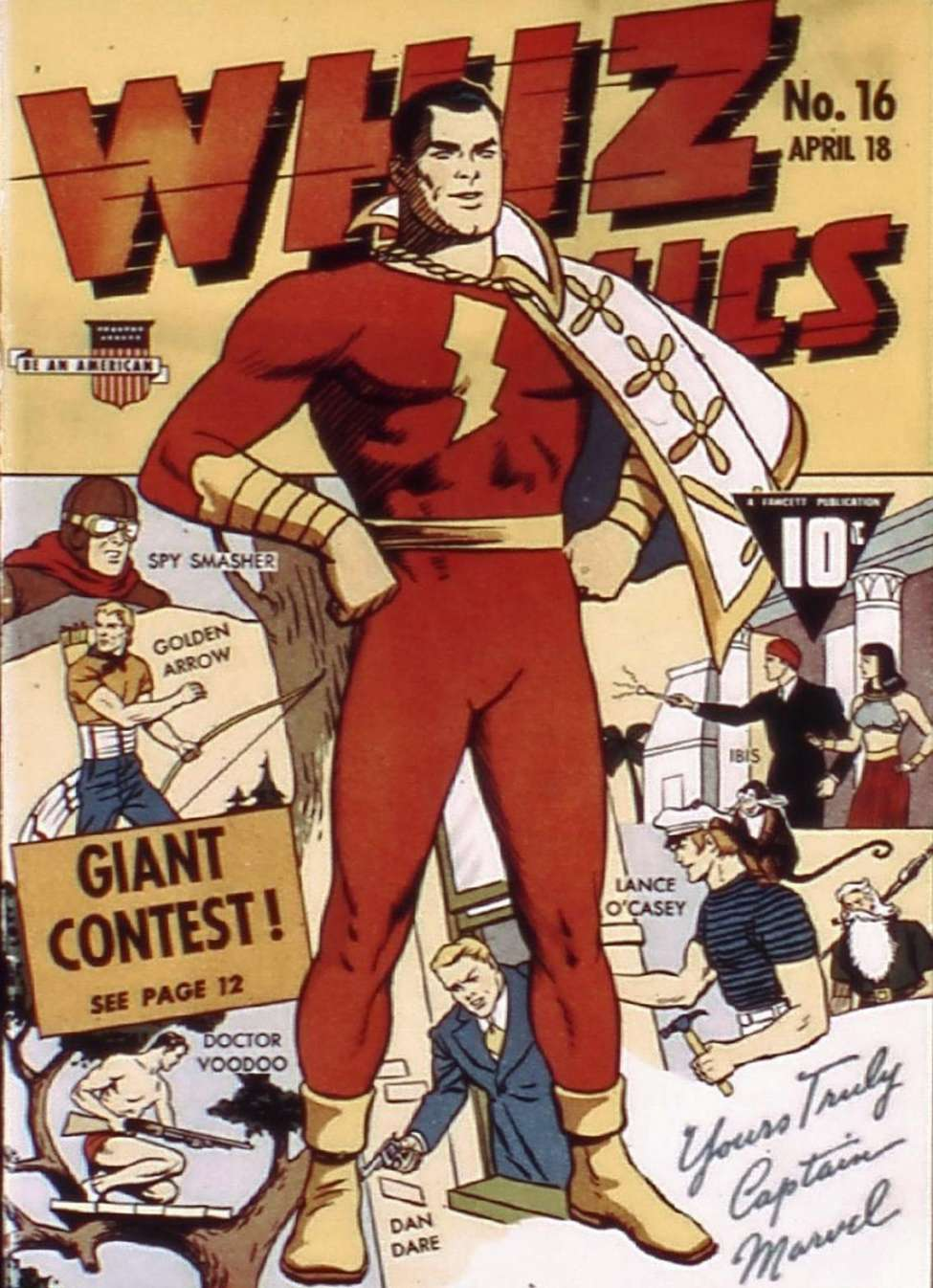 Comic Book Cover For Capt. Marvel Whiz Archives Vol 04