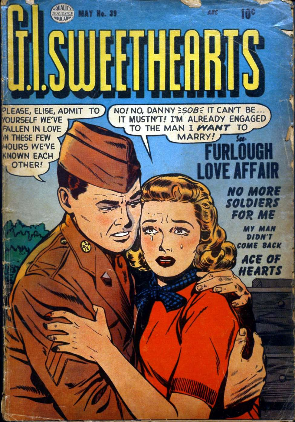 Comic Book Cover For G.I. Sweethearts #39
