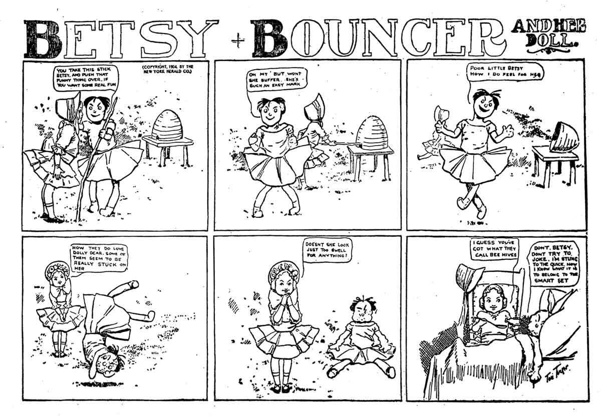 Comic Book Cover For Betsy Bouncer and Her Doll 1901-1904