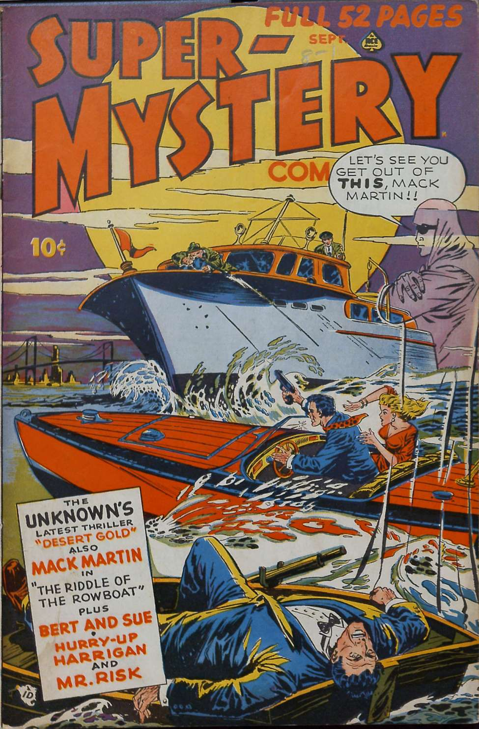 Comic Book Cover For Super-Mystery Comics v8 #1