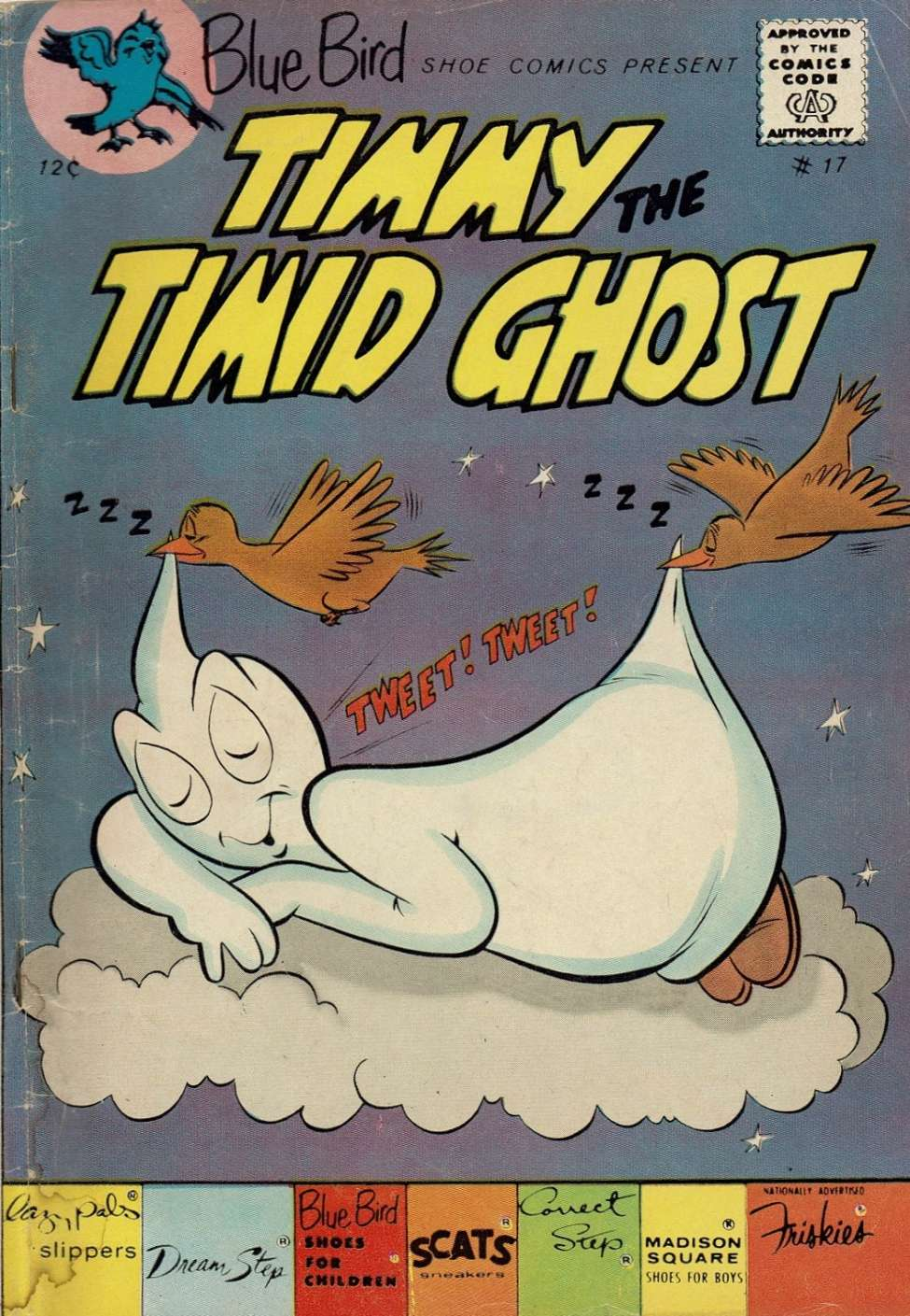 Comic Book Cover For Timmy the Timid Ghost #17
