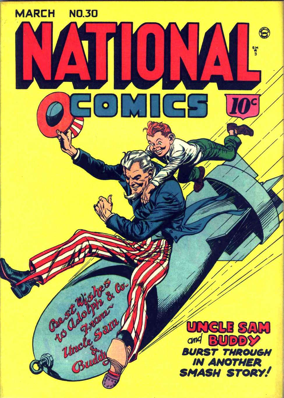 Comic Book Cover For National Comics #30