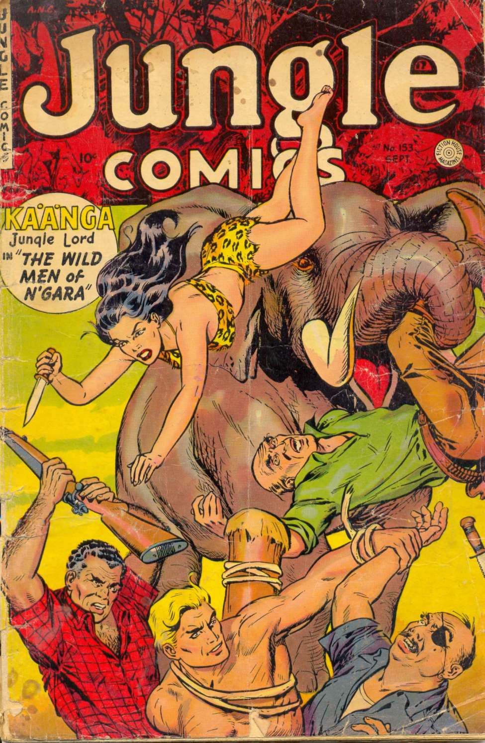 Comic Book Cover For Jungle Comics #153
