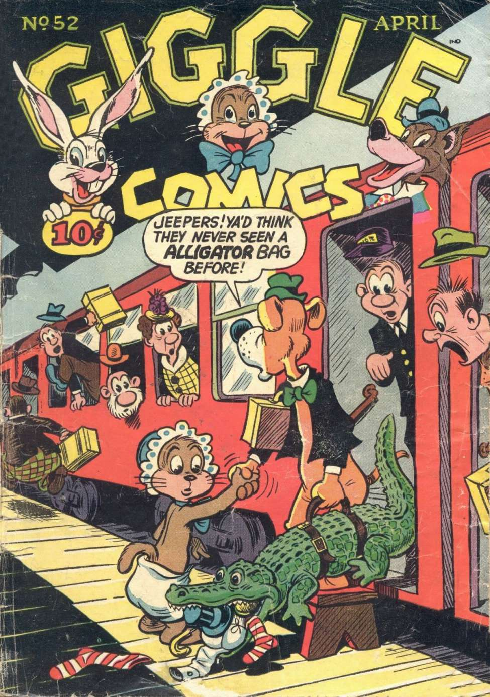 Comic Book Cover For Giggle Comics #52