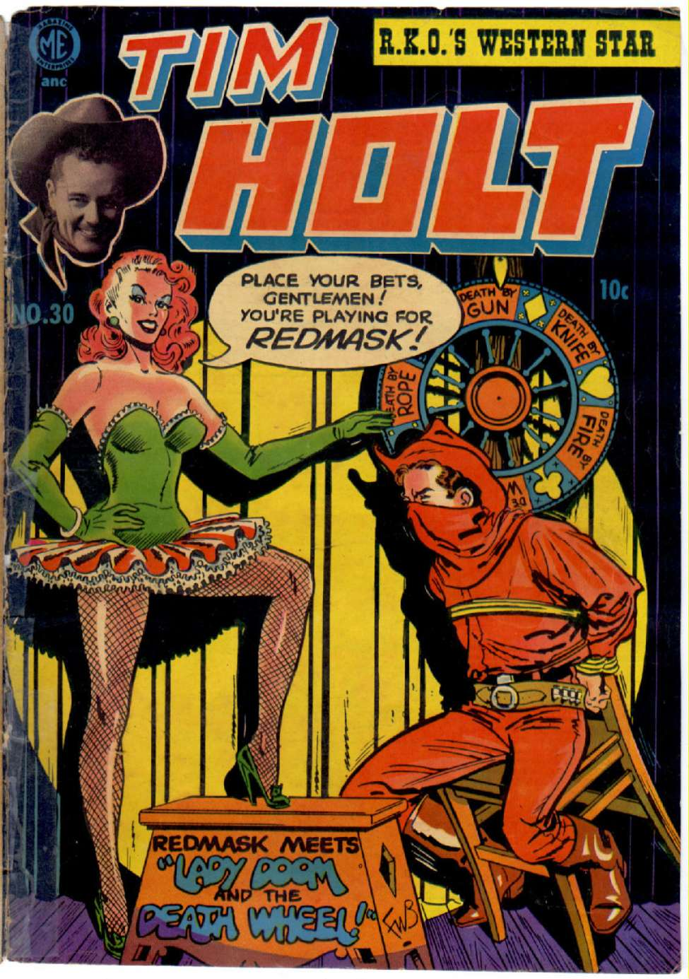 Comic Book Cover For Tim Holt #30