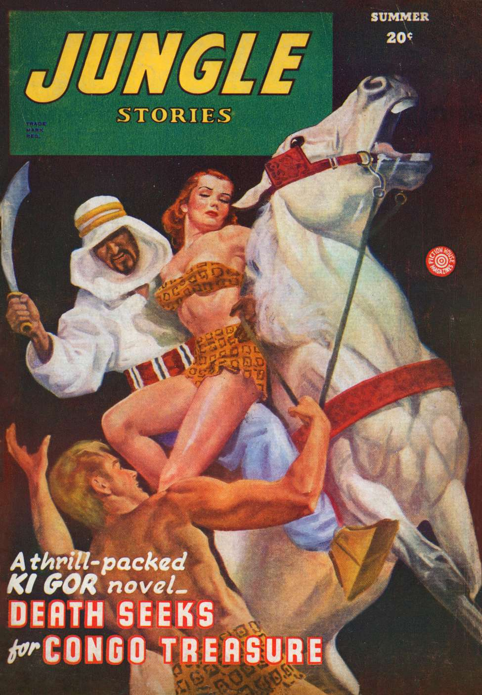 Comic Book Cover For Jungle Stories v3 07 - Death Seeks for Congo Treasure - John Peter Drummond