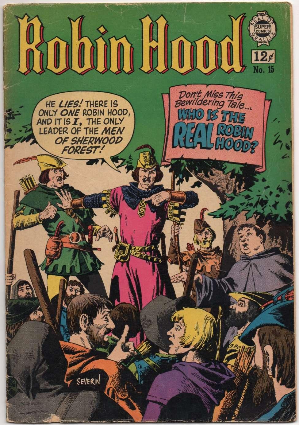 Comic Book Cover For Robin Hood #15
