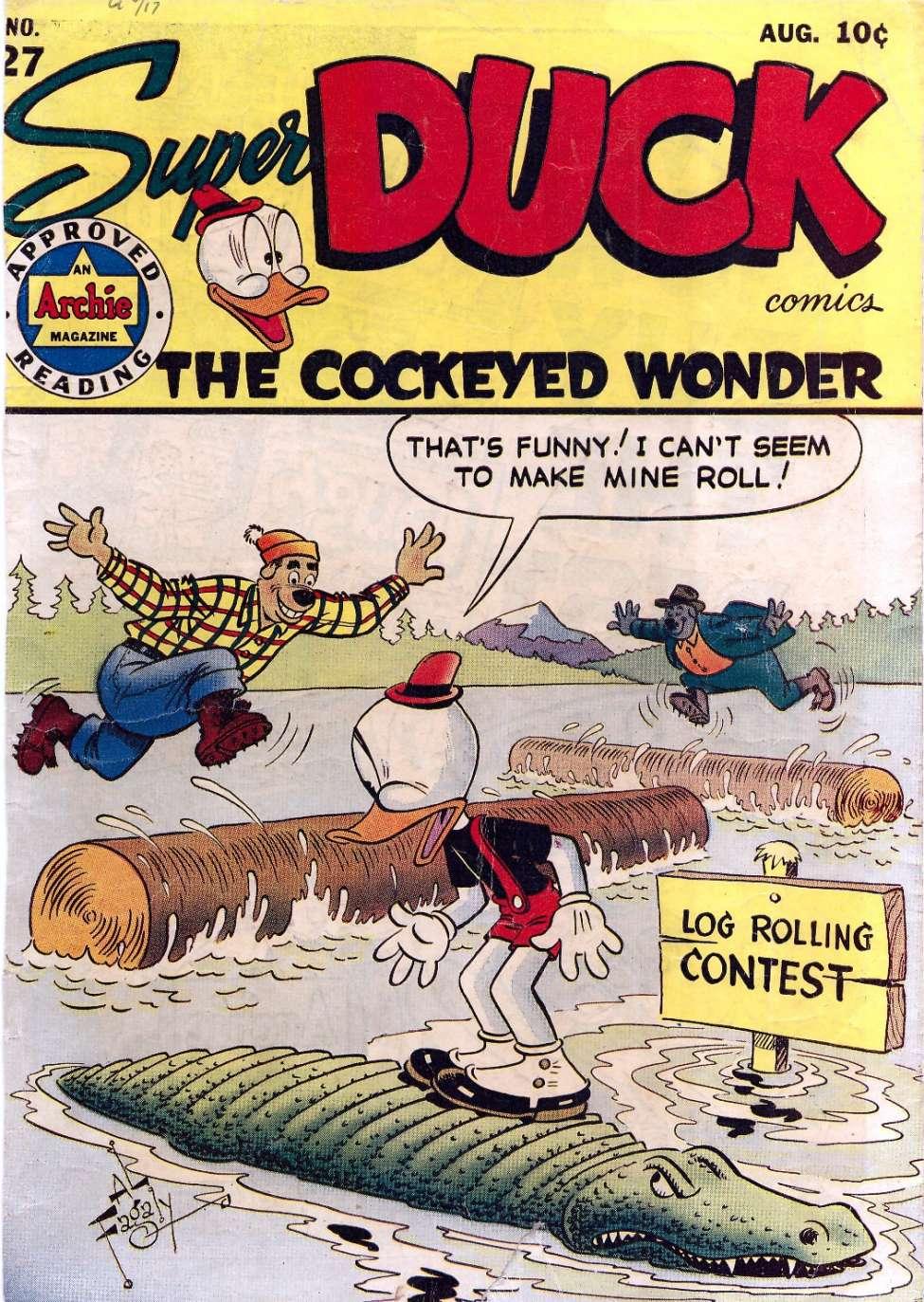 Comic Book Cover For Super Duck Comics #27