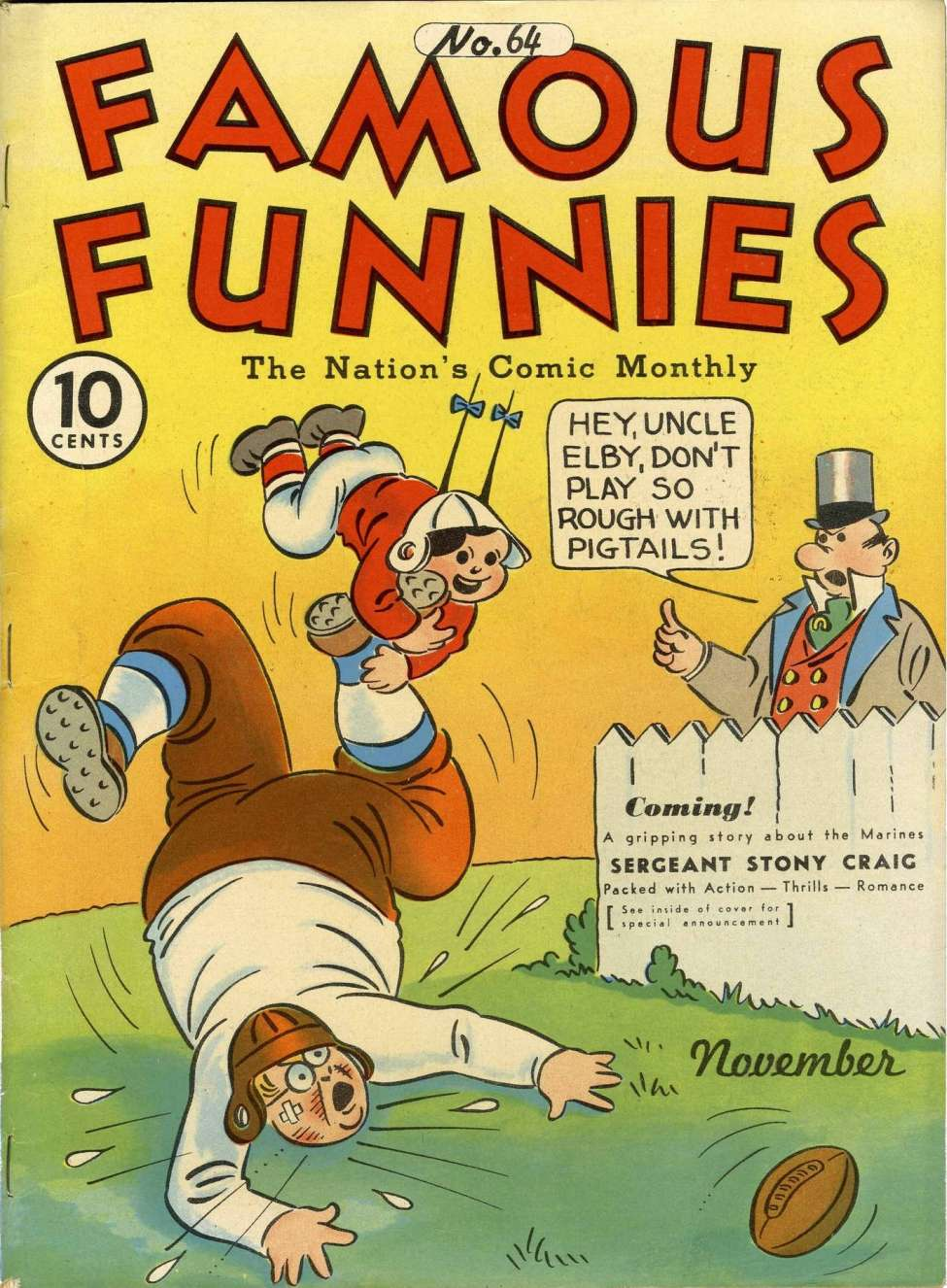 Comic Book Cover For Famous Funnies #64