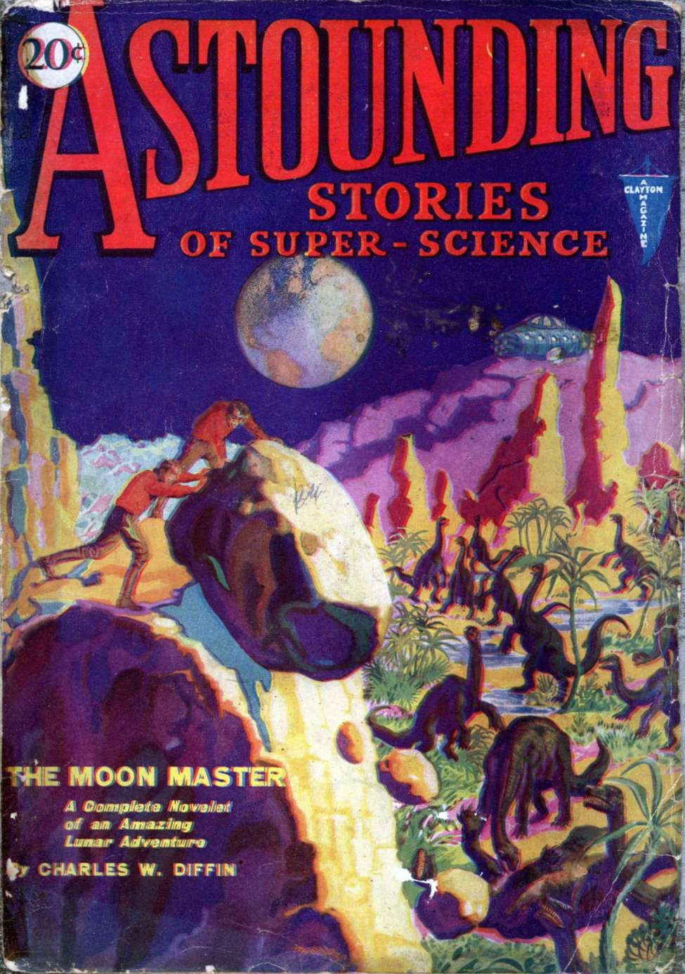 Comic Book Cover For Astounding v02 03 - The Moon Master - Charles W. Diffin