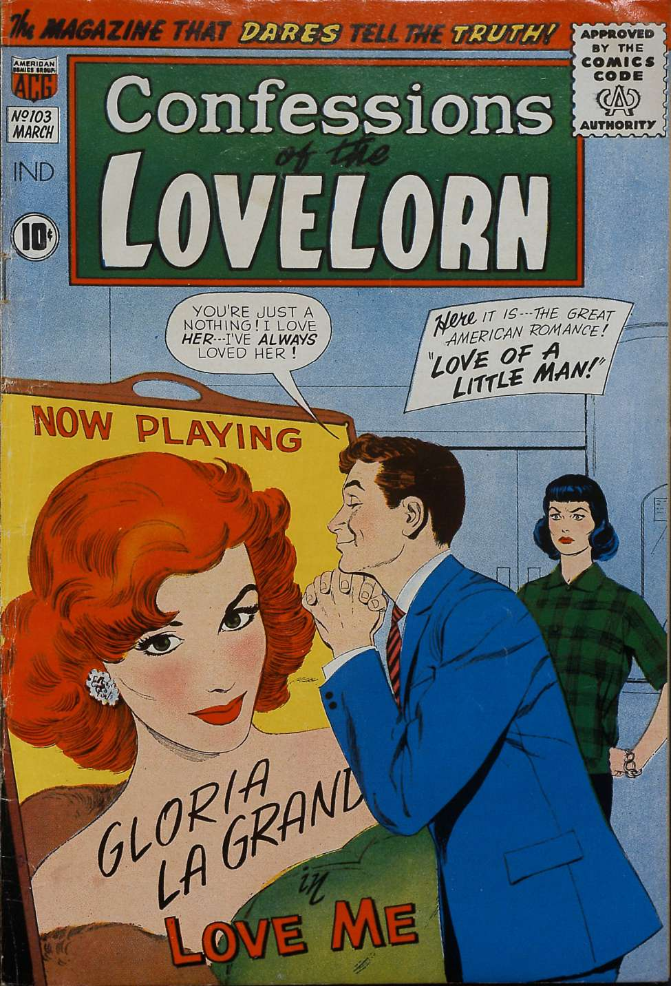 Comic Book Cover For Confessions of the Lovelorn #103