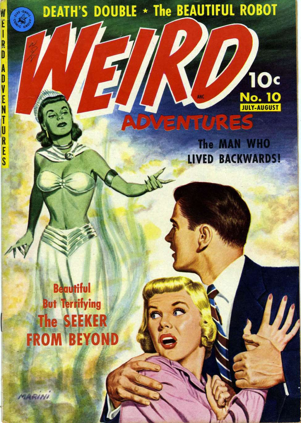 Comic Book Cover For Weird Adventures #10