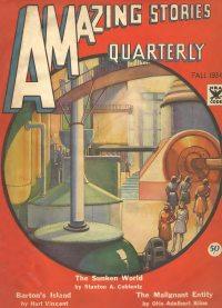 Large Thumbnail For Amazing Stories Quarterly v7 02 - The Sunken World - Stanton A. Coblentz