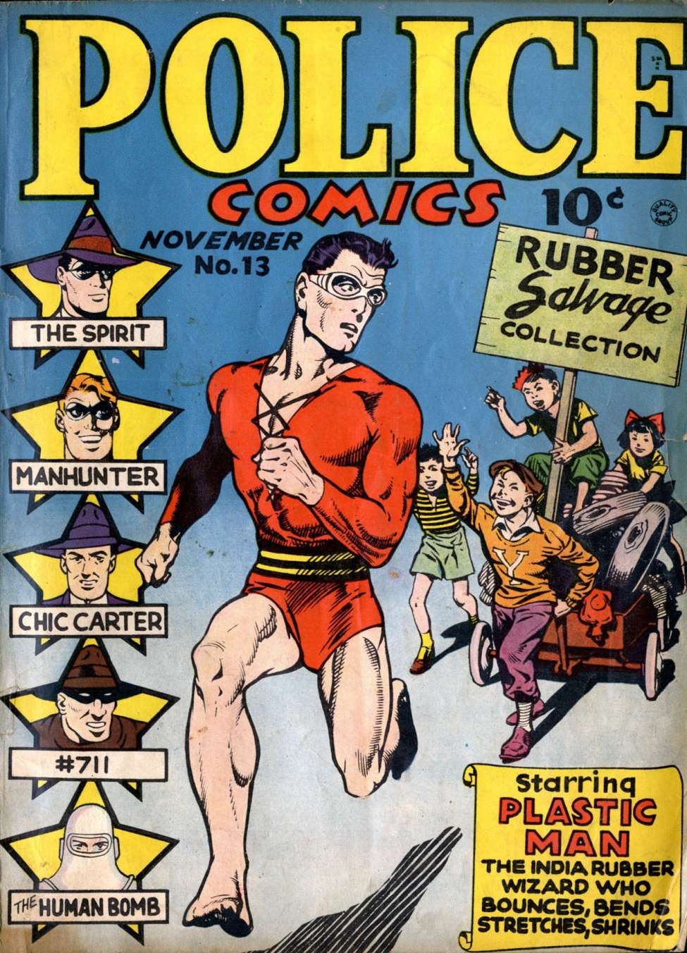 Comic Book Cover For Police Comics #13