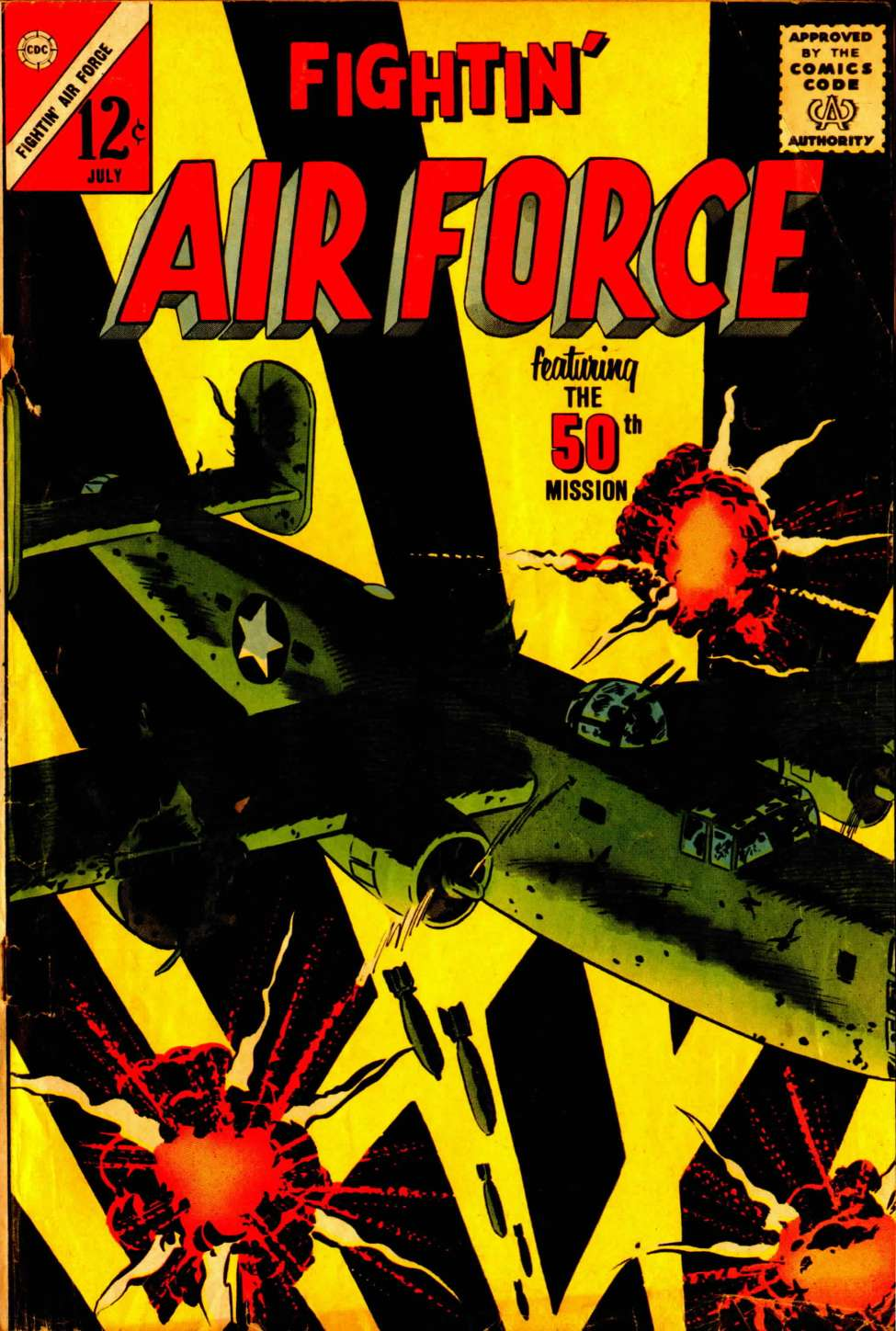 Comic Book Cover For Fightin' Air Force #39
