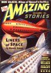 Cover For Amazing Stories v13 12 Fugitives from Earth Nelson S. Bond
