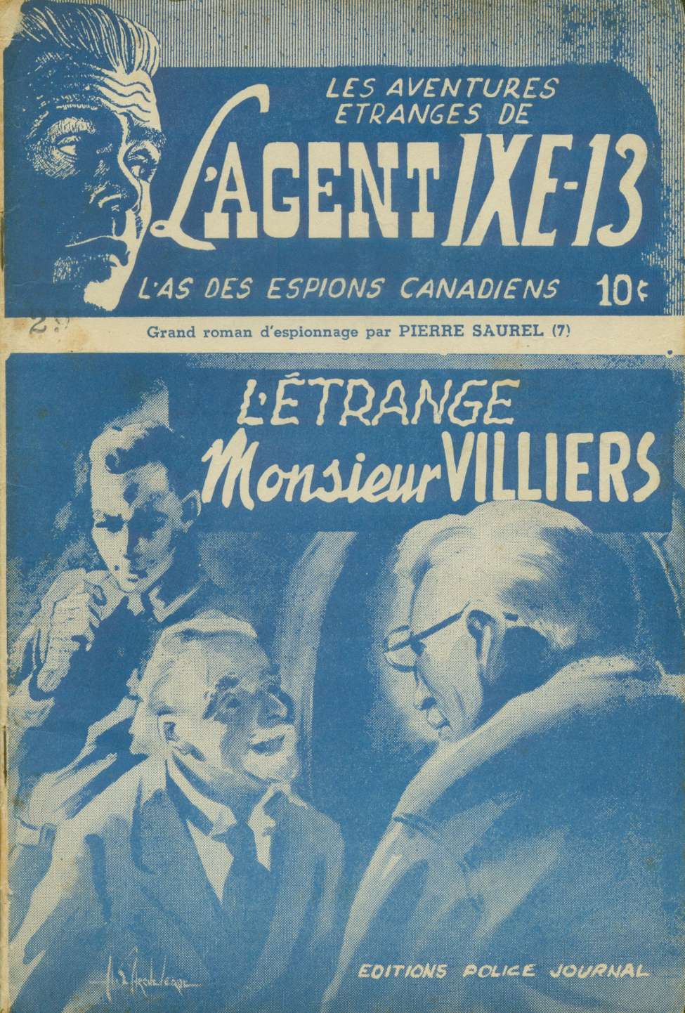 Comic Book Cover For L'Agent IXE-13 v2 007 – L'étrange monsieur Villiers