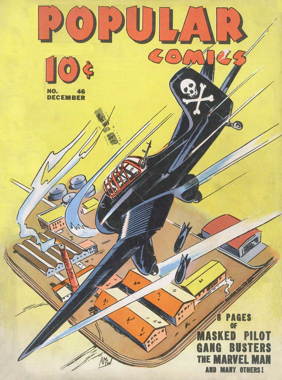 Comic Book Cover For Popular Comics #46
