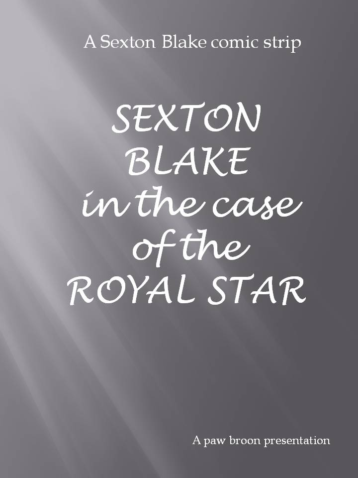Comic Book Cover For Sexton Blake - The Royal Star
