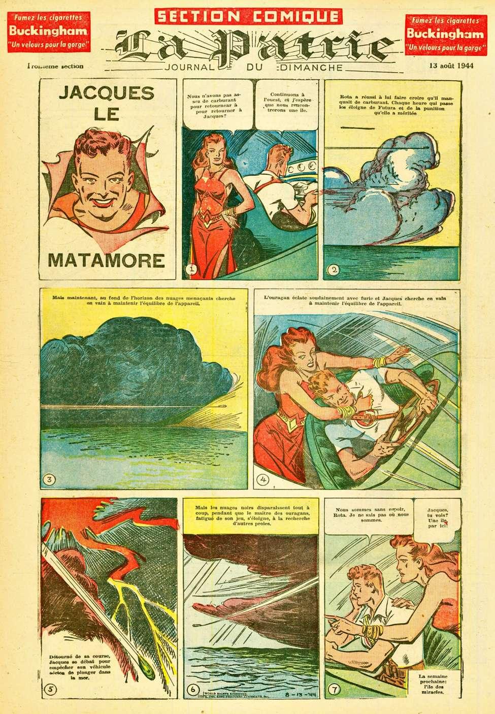 Comic Book Cover For La Patrie - Section Comique (1944-08-13)