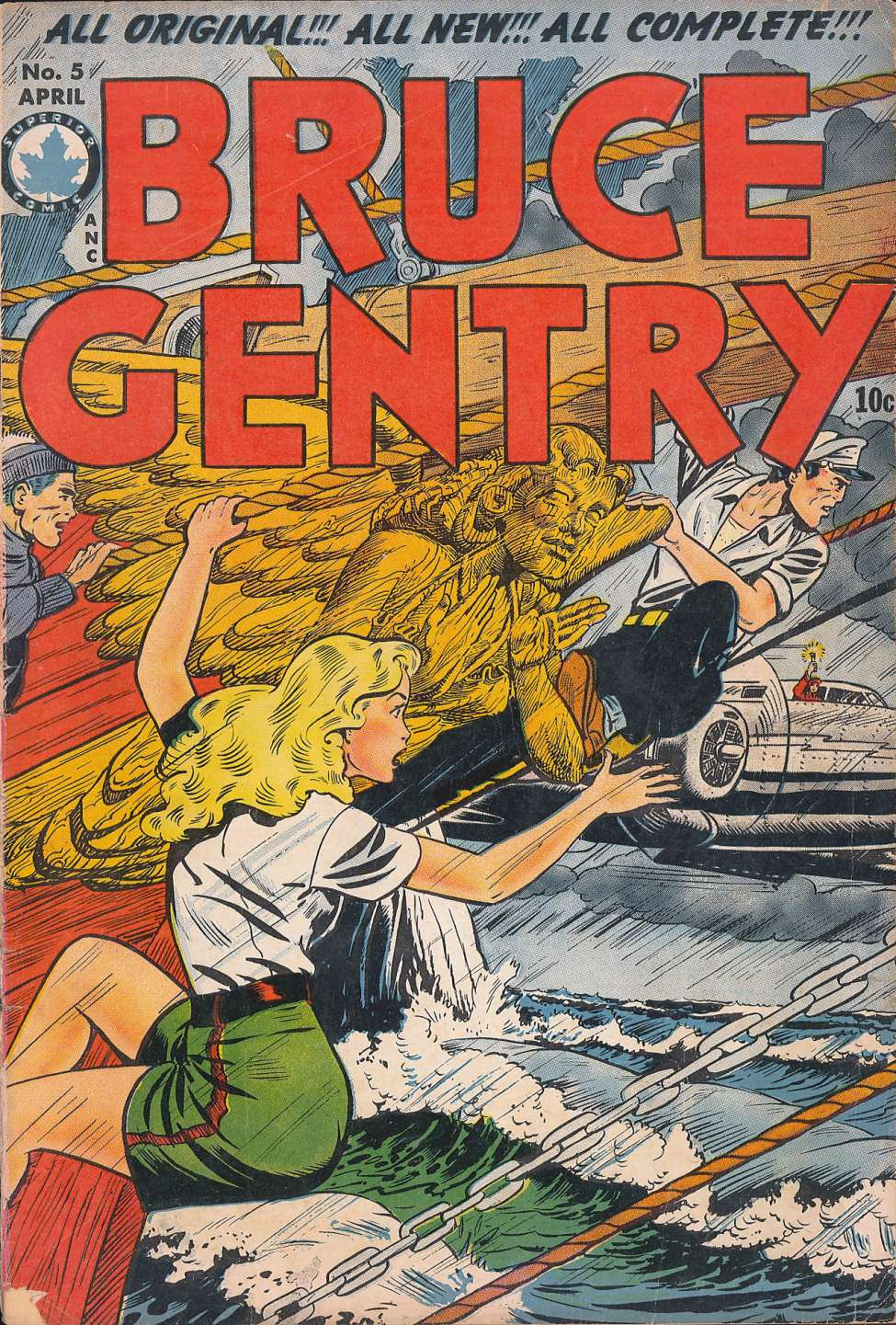 Comic Book Cover For Bruce Gentry #5