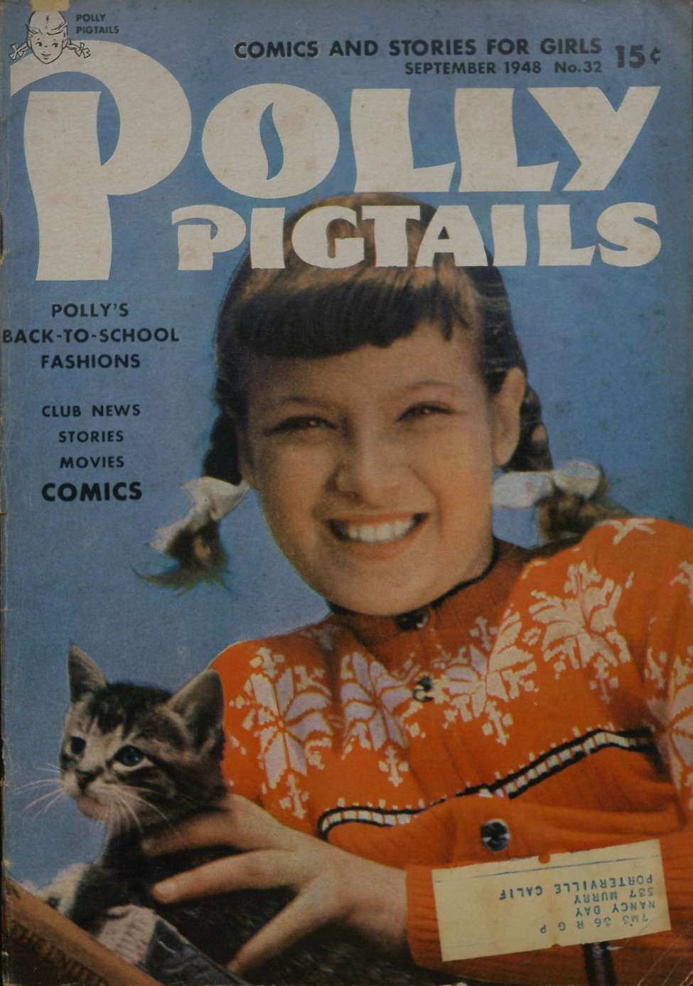 Comic Book Cover For Polly Pigtails #32